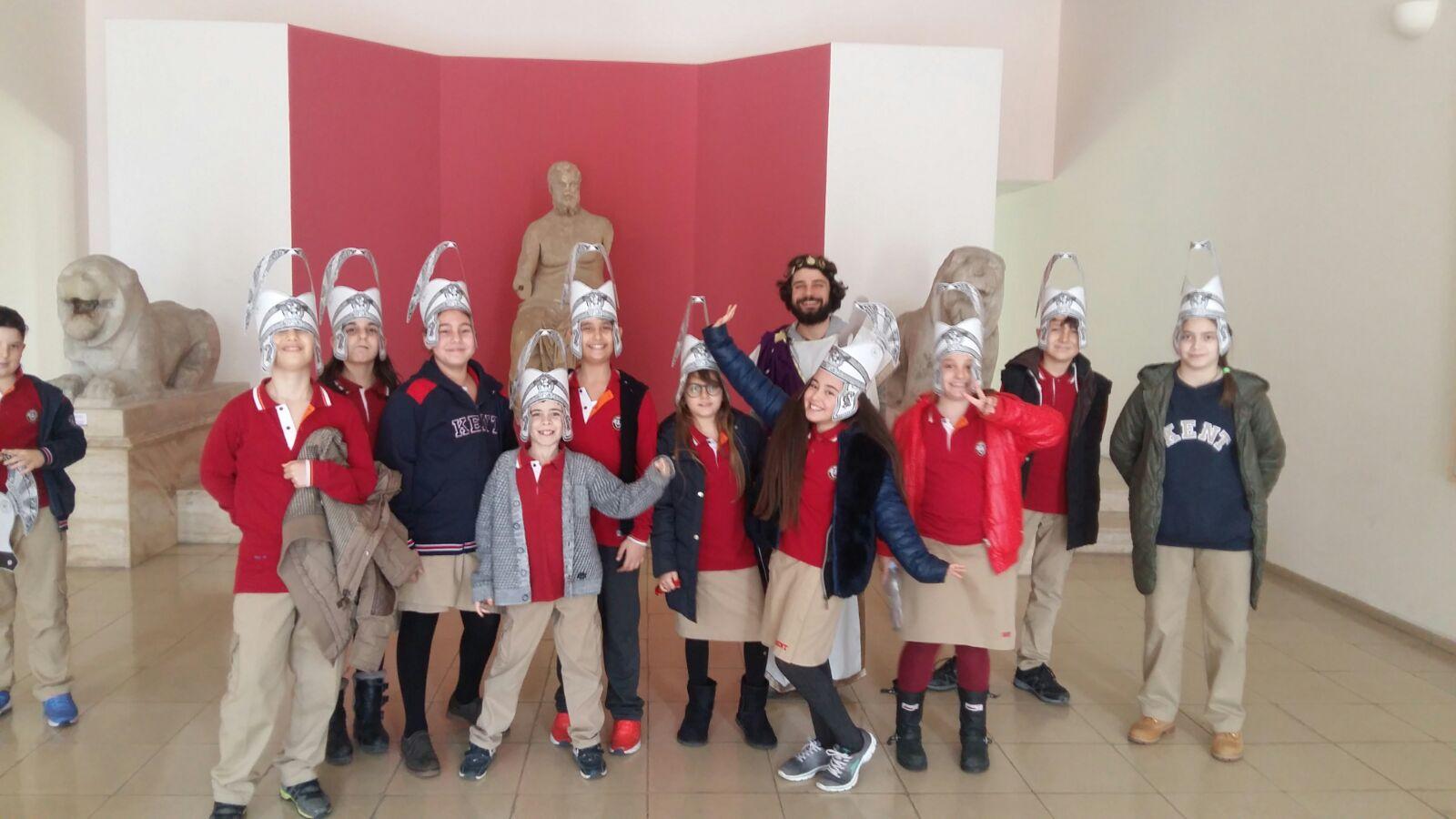 Güzelbahçe kampüsü 5 A ve B sınıfları Izmır Tarih müzesinde