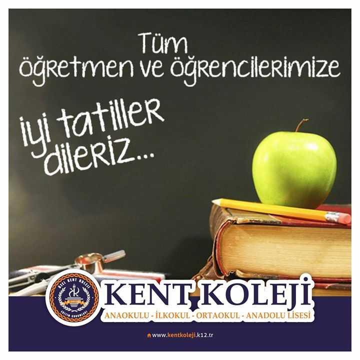 Tüm Öğretmen ve Öğrencilerimize iyi Tatiller...