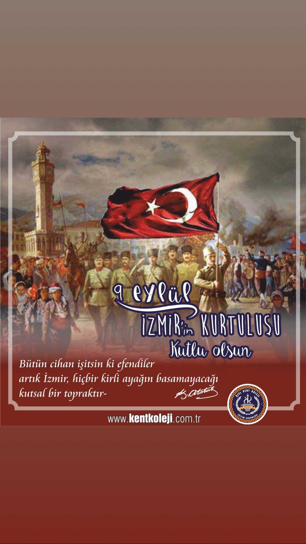 9 Eylül İzmirin Kurtuluşu Kutlu Olsun