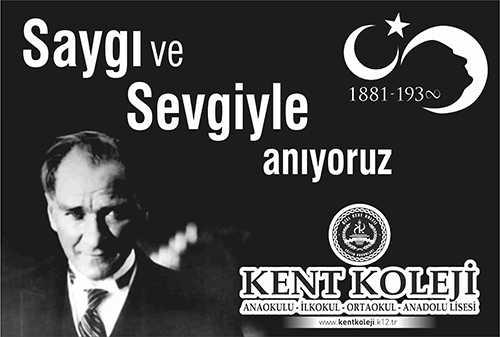 10 Kasım Atatürkü anma günü ve Atatürk haftası