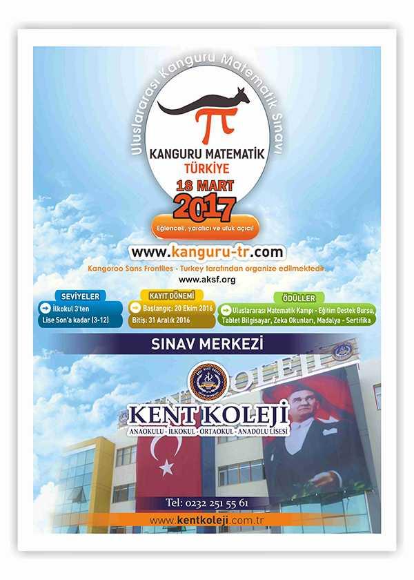Kent Koleji, Uluslararası Kanguru Matematik Yarışması için sınav merkezi oldu!