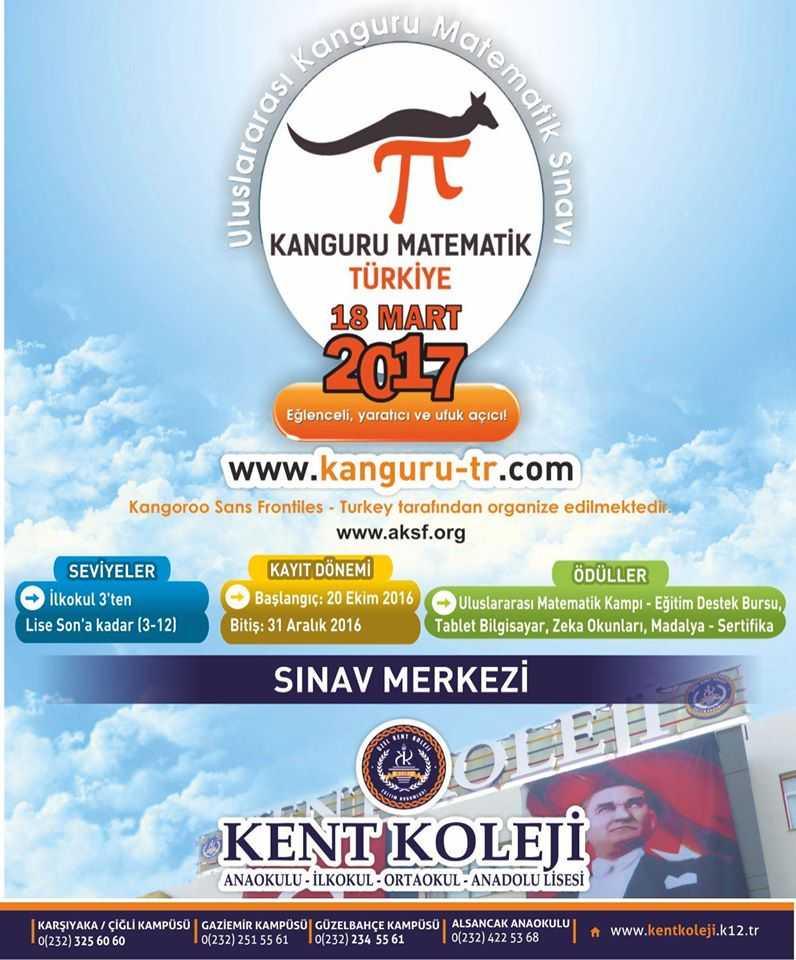 Uluslararası Kanguru Matematik Yarışması için Sınav Merkezi Olduk