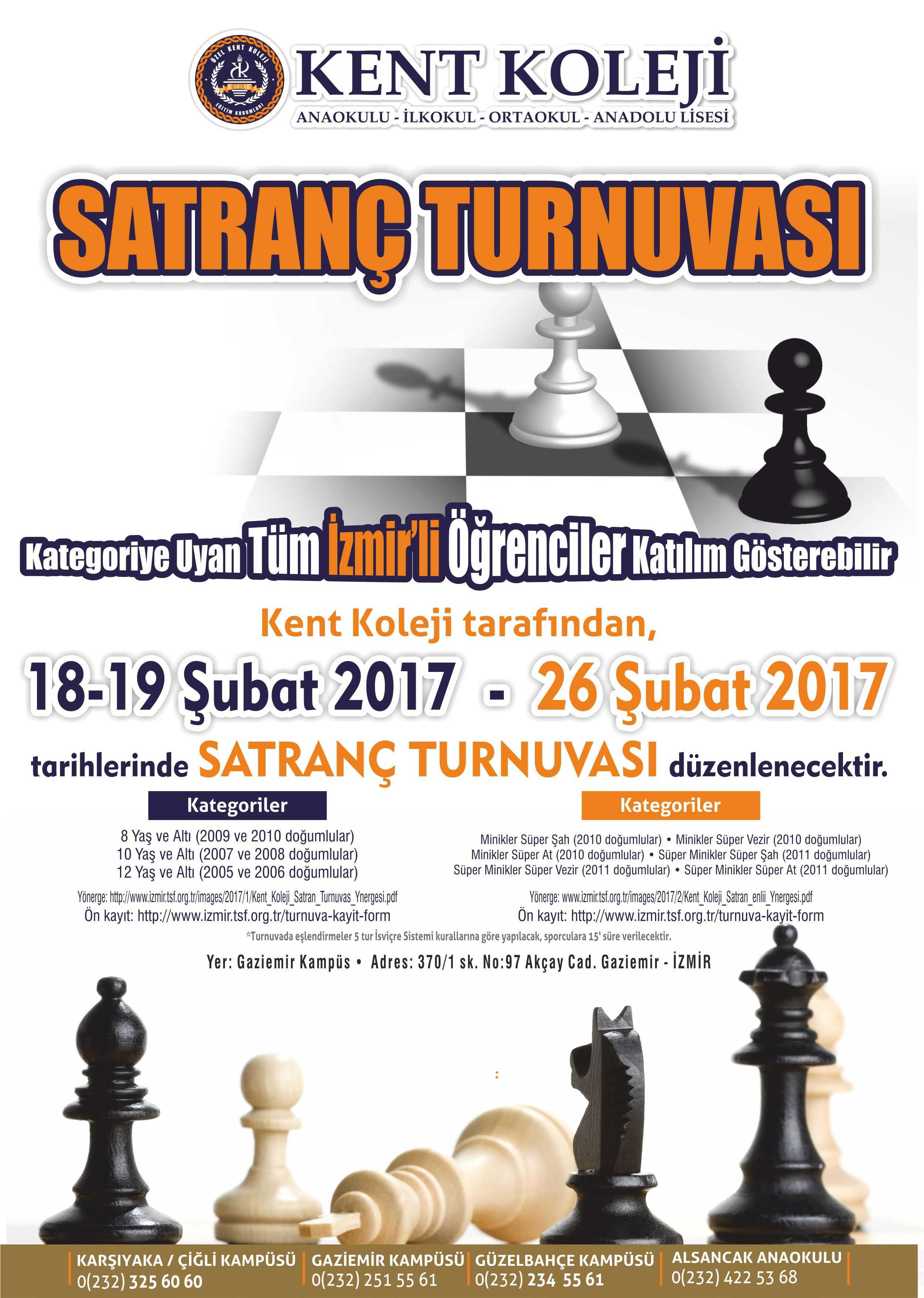 Kent Koleji Satranç Turnuvası