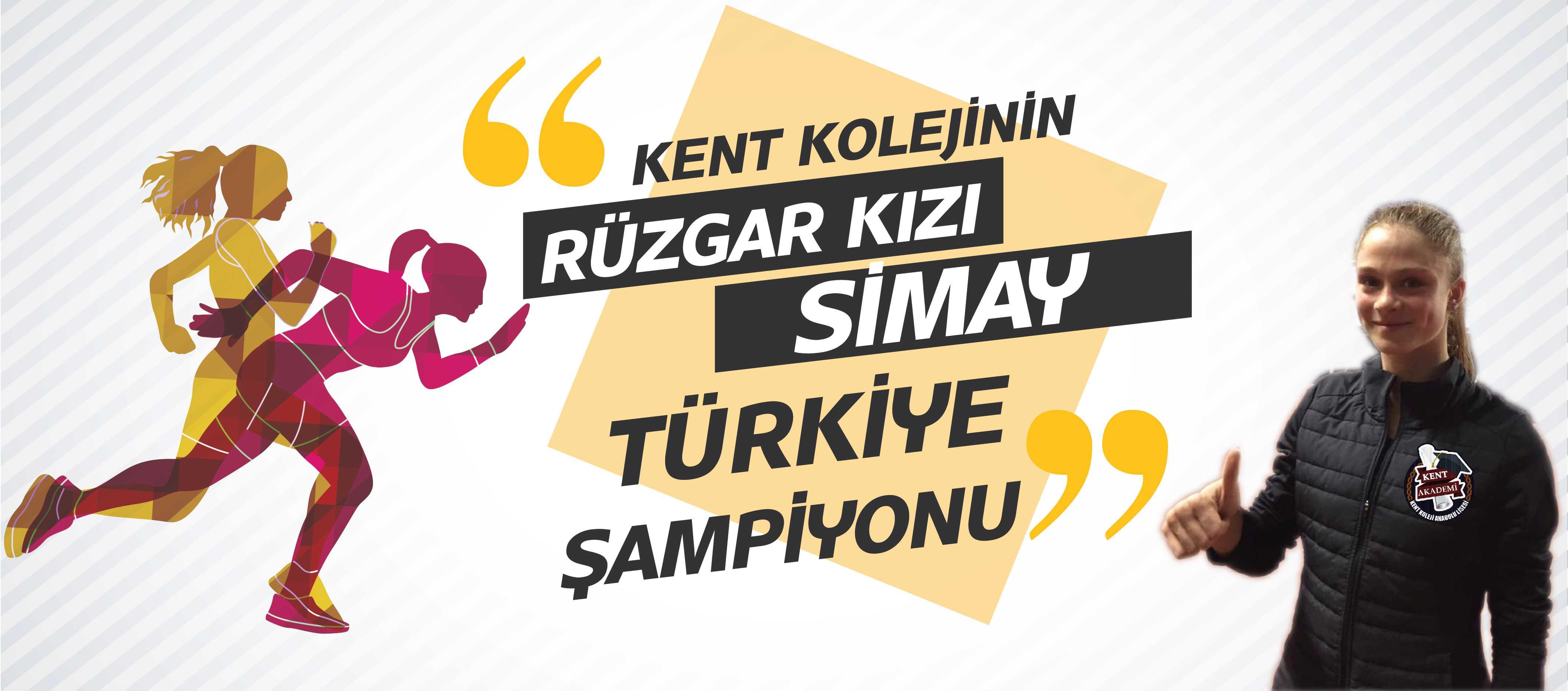 Rüzgar kız Simay Türkiye Şampiyonu!