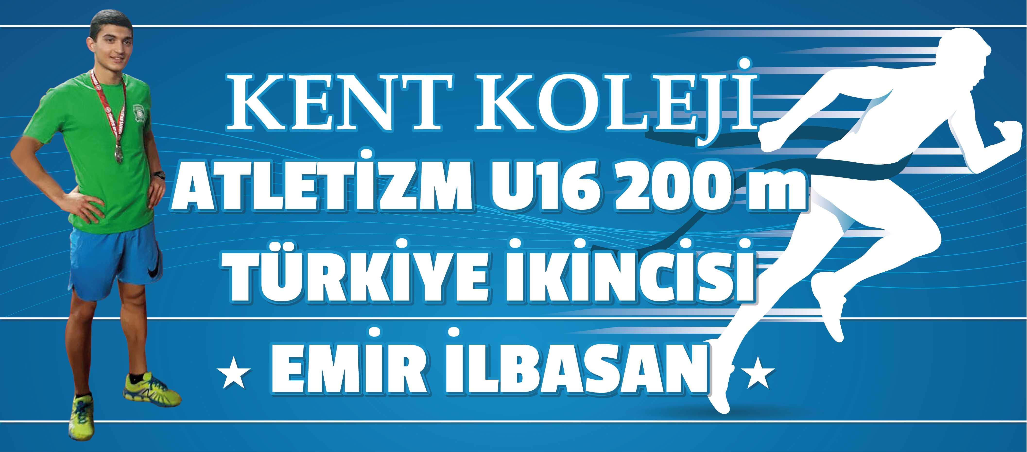 KENT KOLEJİ ÖĞRENCİSİ ATLETİZM DE TÜRKİYE 2. Sİ !
