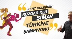 Rüzgar kız Türkiye Şampiyonu!
